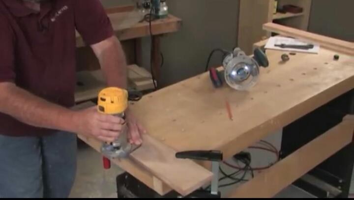How to rebate wood with a router