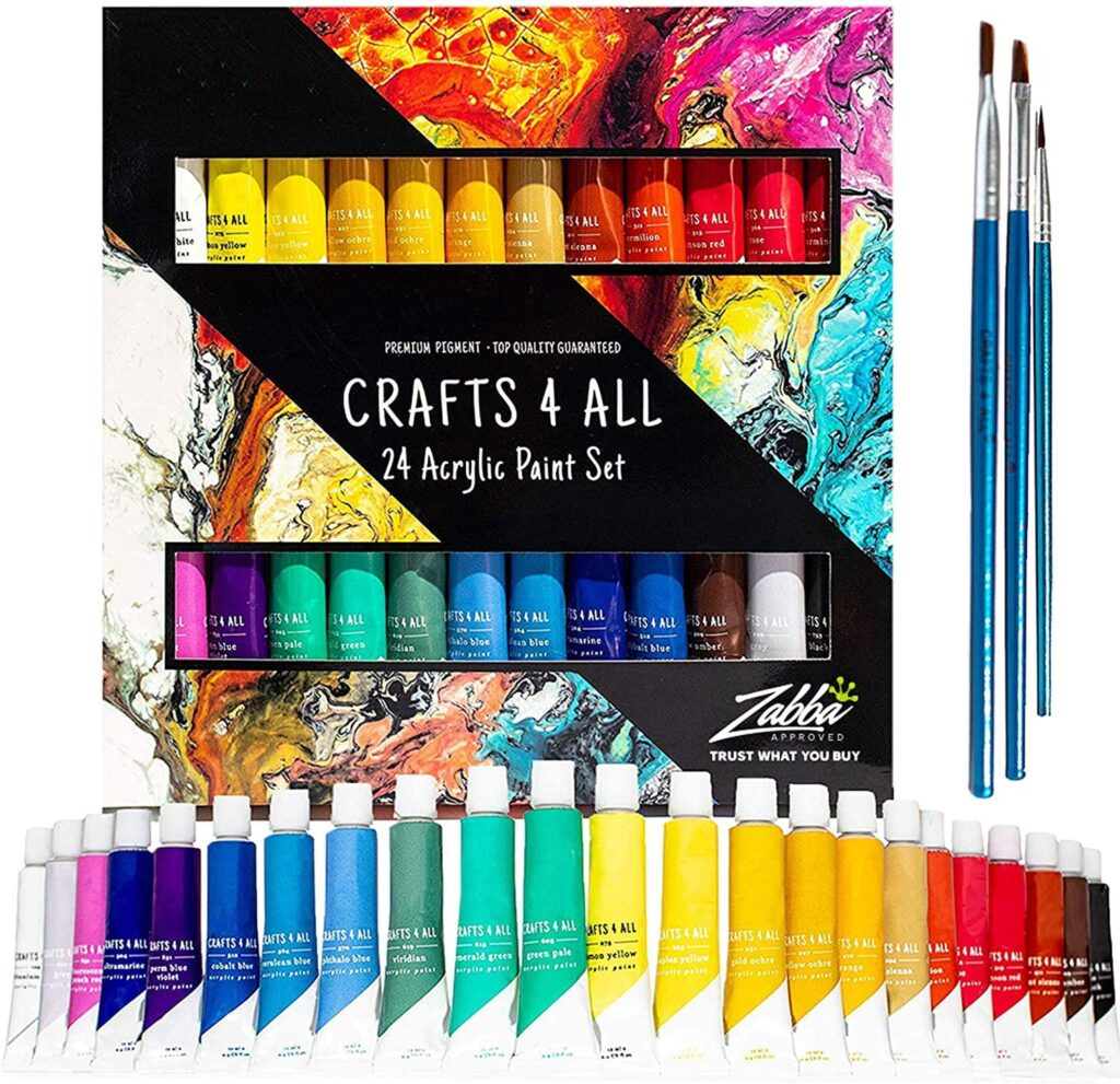 Acrylic Paint Set 24 Colors by Crafts