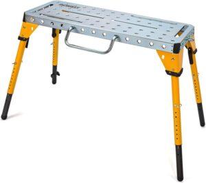 Dewalt Adjustable Height Portable Steel Welding Table and Work Bench